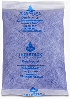 INTERTECK PACKAGING 120 Gram Silica Gel Packets - Blue to Pink, Rechargeable BT-50 Paper Translucent Desiccant Packets and Dehumidifiers, 9 Cubic Ft/Packet (Indicating, 4 Pack)