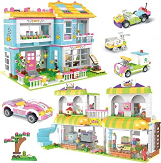 1657 Pieces Friends House Building Blocks Set Supermarket Creative Toy Building Kit for Kids Best Learning and Roleplay ST...