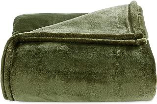 Berkshire Blanket Luxury Plush VelvetLoft Bed Blanket, Twin, Burnt Olive