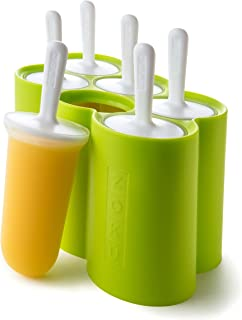 Zoku Classic Pop Molds, 6 Easy-release Popsicle Molds With Sticks and Drip-guards, BPA-free