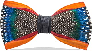 6dfdb08d541b Brackish Men's Mill Pond Handcrafted Pheasant/Guinea/Peacock Feather Bow Tie  (274-