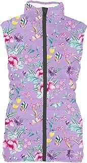 Rainbow Rules Floral Chinoiserie Mens Puffer Vest Bodywarmer Gilet