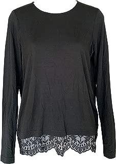 Women's Lace Button T Shirt Long Sleeve Clothing Tops