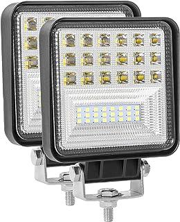 2個セット126W LED作業灯 ワークライト 投光器 LED投光器 12v/24v 兼用 防水 防塵 防震 取付け自由 省エネルギー バックライト コンボビーム 除雪機 重機 船舶 各種作業車対応( 2年保証)
