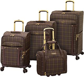London Fog Brentwood Softside Expandable Luggage with Dual Spinner Wheels