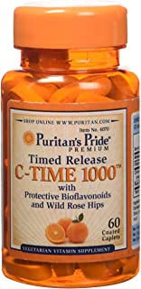 Puritan's Pride Vitamin C-1000 mg with Rose Hips Timed Release 1000 mg, 60ct