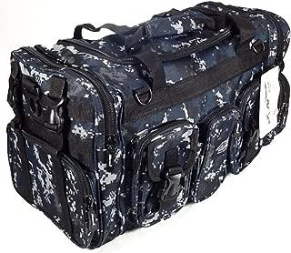 blue camo duffle bag