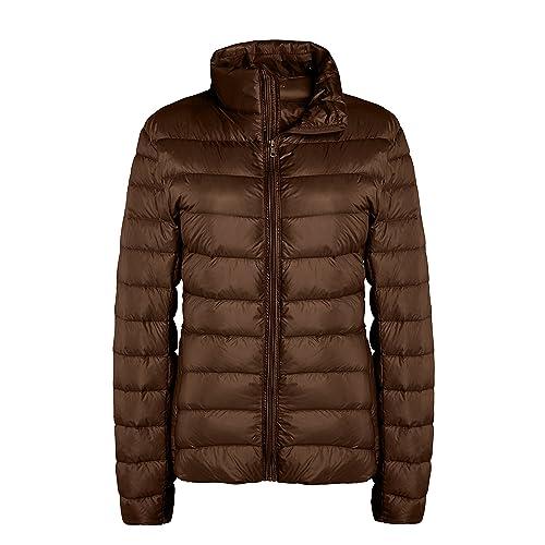 ZSHOW Women s Lightweight Packable Down Jacket Outwear Puffer Down Coats 79ee77f137