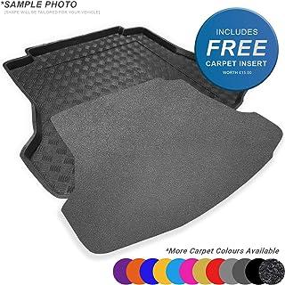 carmats4u Tailored Boot Liner//Tray//Mat for 5 Series E61 Touring//Estate 2004-2010 /& Removable Anti-Slip Black Carpet Insert