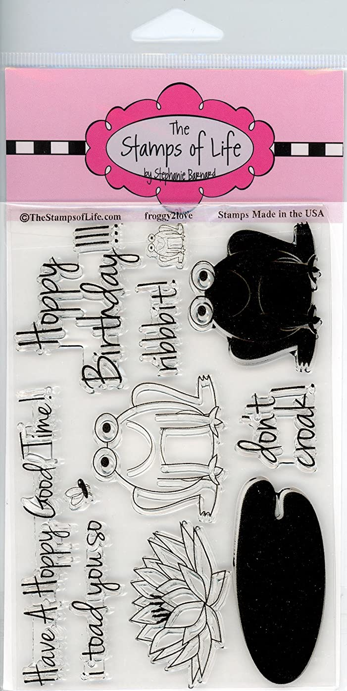 Fun Frog Clear Stamps for Scrapbooking and Card-Making by The Stamps of Life - Froggy2Love