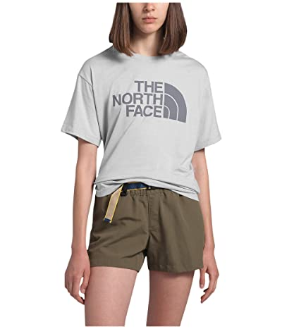 The North Face Half Dome Short Sleeve Tri-Blend Tee (TNF Light Grey Heather) Women