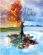 ZICHEN DIY Oil Painting Paint by Number Kit for Adult Kids-Dream Tree 16x20 Inch, Diy Oil Painting Drawing Colourful Canva...
