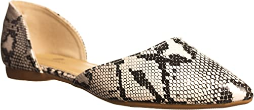 Best pointed toe open side flats Reviews