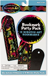 Melissa & Doug Scratch Art Bookmark Party Pack Activity Kit - The Original (12 Bookmarks, Great Gift for Girls and Boys - Best for 4, 5, 6 Year Olds and Up)