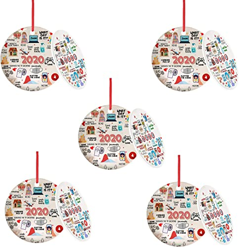 lowest OPTIMISTIC discount Christmas Tree Hanging sale Ornament Decoration,2020 Toilet Paper Crisis & Quarantine Creative Keepsake Xmas Tree Decoration, Christmas Party Home Holiday Decor, 2.8In outlet online sale