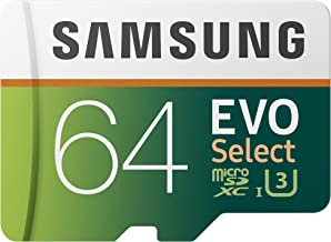 Samsung 64GB 100MB/s (U3) MicroSDXC EVO Select Memory Card with Full-Size Adapter (MB-ME64GA/AM)