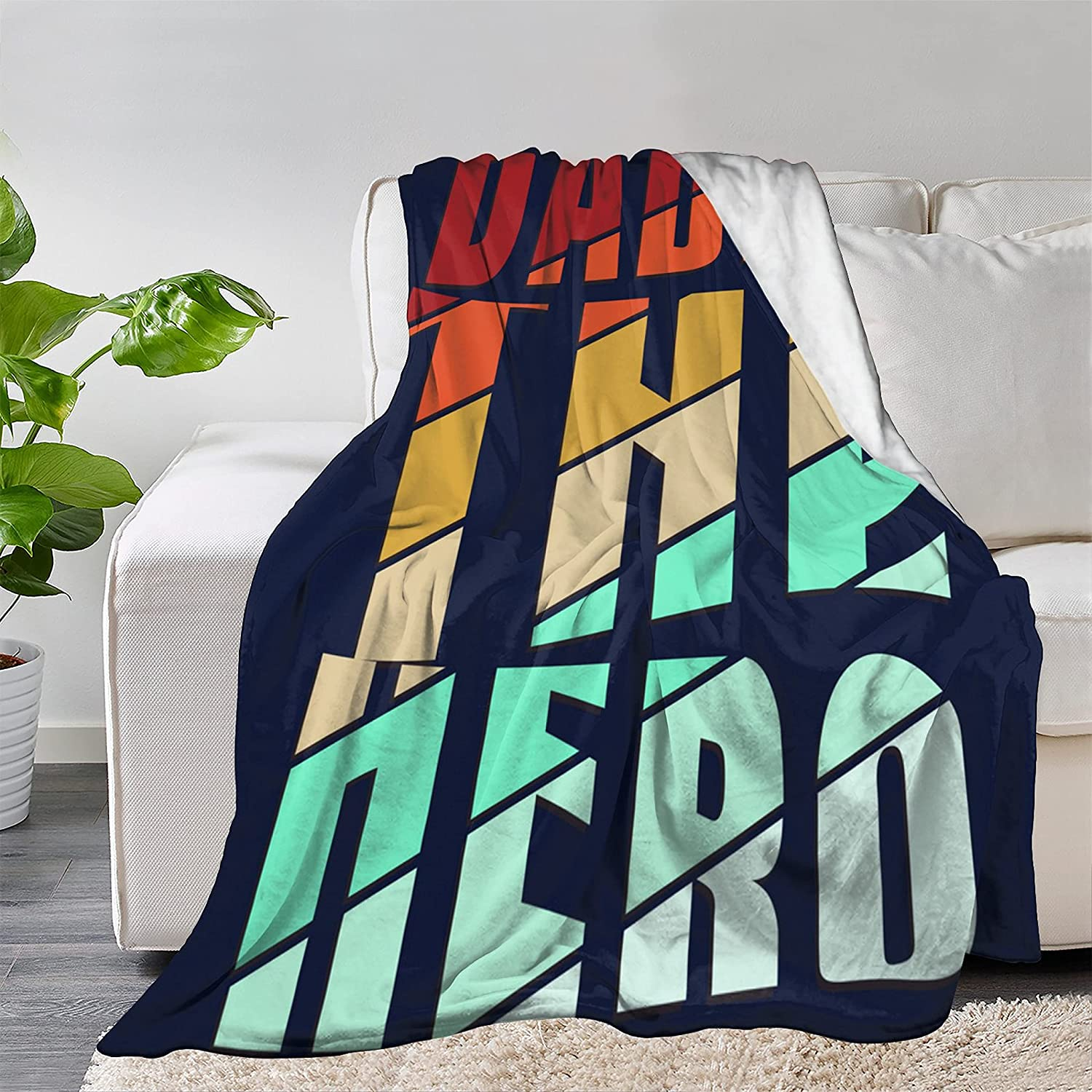 FUNDESIGN Hero Dad Farther's Day So Flannel Throw Blanket Ultra Columbus Mall Weekly update
