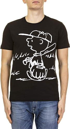 Iceberg Homme F01663019000 Noir Coton T-Shirt