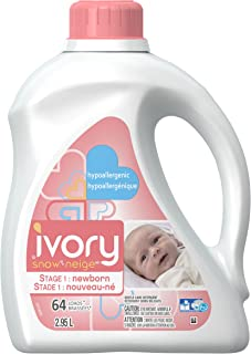 Ivory Snow Stage 1: Newborn Hypoallergenic Liquid Baby Laundry Detergent (HE), 2.95 L (64 Loads) - Packaging May Vary