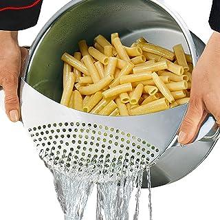Best Utensils Pan Pot Spaghetti Strainer Premium Stainless Steel Pasta Kitchen Strainer Vegetables Colander & Drainer - Fi...