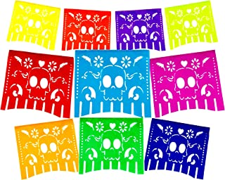 Fiesta Brands Mexican .Colors for The Dead Papel Picado Banner.Vibrant Colors Tissue Paper