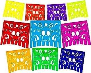 Colors for The Dead Papel Picado Banner.Vibrant Colors Tissue Paper