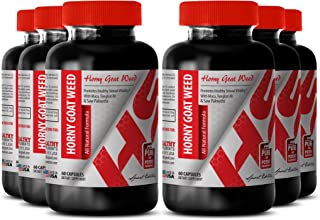 Horny Goat Weed with yohimbe - Horny Goat Weed All Natural Formula 1560 MG - Fertility Booster (6 Bottles)