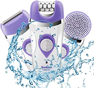 Epilator for Women,Budermmy 3 in 1 Rechargeable Hair Remover,Electric Facial Clean Brush...