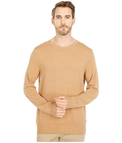 J.Crew Cotton-Cashmere Pique Crewneck Sweater (Heather Raffia) Men