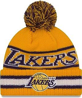 Los Angeles Lakers New Era NBA Cuffedヴィンテージ選択ポンポン付きニット帽子