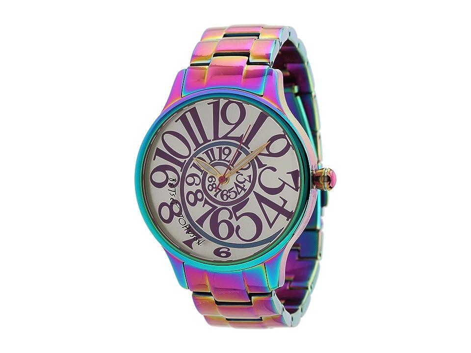 Betsey Johnson - Betsey Johnson BJ00040-11 Analog Rainbow Stainless Steel Case and Bracelet Watch