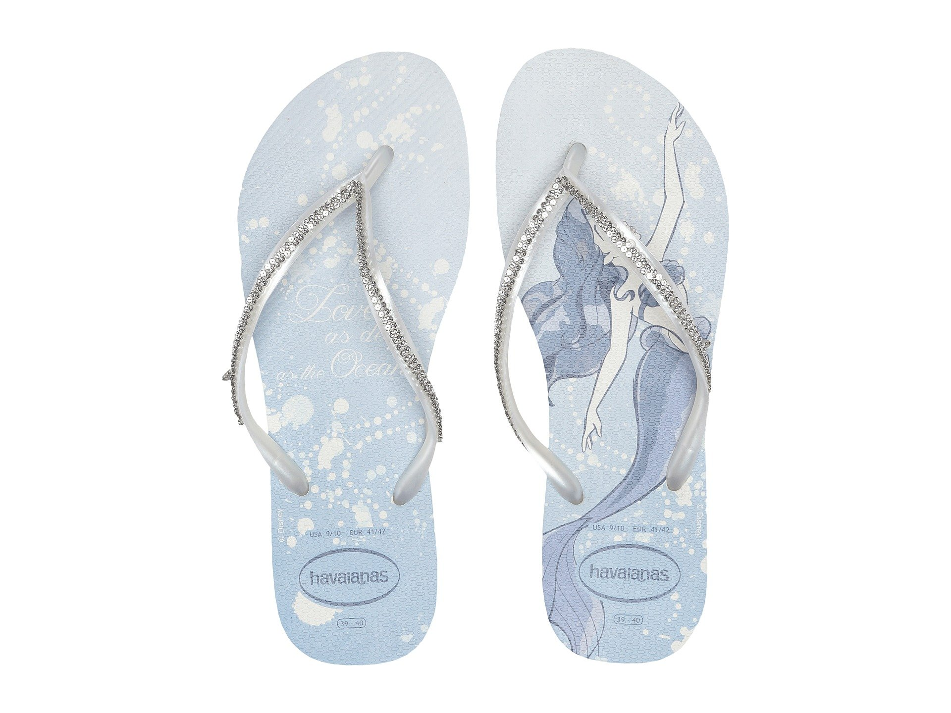 d25acca21 Havaianas Slim Bridal Ariel Sandal In White Metallic Ariel