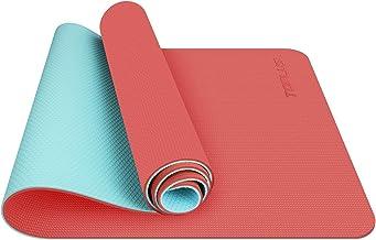 TOPLUS Yogamat, klassieke Pro yogamat, TPE, milieuvriendelijk, antislip, fitnessmat, met draagriem, trainingsmat, voor yog...