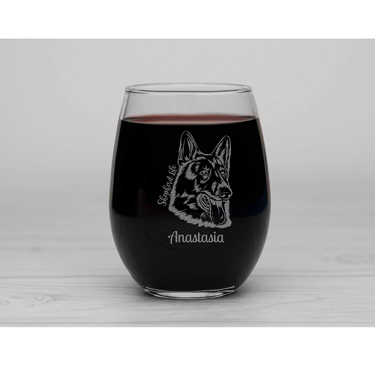 Shepherd Life New item Personalized Engraved Stemless Sales for sale Wine Glass