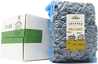 La Nogalera Pecans - 100% Natural and Fresh Crop of Chopped Pecans in 5 lbs vacuum sealed bag. Raw pecan nut pieces that c...