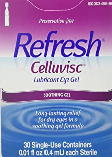 REFRESH CELLUVISC Lubricant Eye Gel Single-Use Containers 30 ea (Pack of 2)