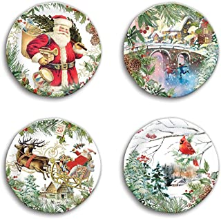 Michel Design Works SWPS274 Melamine Accent Plates, Christmas Joy