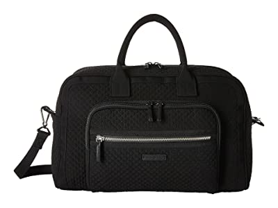 Vera Bradley Iconic Compact Weekender Travel Bag (Classic Black) Weekender/Overnight Luggage