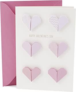 Hallmark Signature Valentine's Day Card (Pink Paper Hearts)