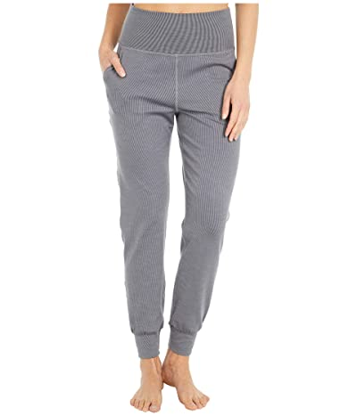 Beyond Yoga Heather Rib Midi Joggers (Gray Heather) Women