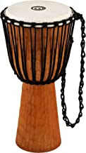 Meinl Percussion Djembe with Mahogany Wood-NOT Made in CHINA-12 Large Size Rope Tuned Goat Skin Head, 2-Year Warranty, Bro...