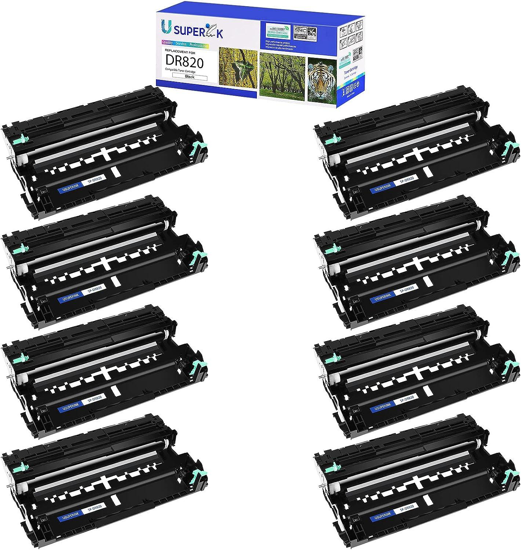 USUPERINK Compatible Drum Unit Replacement for Brother DR820 DR-820 to use with MFC-L5850DW MFC-L5700DW HL-L5200DW MFC-L5900DWHL-L6200DW Printer (Black, 8 Pack)
