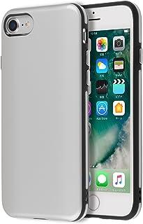 Highend berry iPhone SE 第2世代 iPhone7 iPhone8 ケース 耐衝撃 カード 収納 ポケット ストラップホール 付 HYBRID ANTI-SHOCK CASE (シルバー)