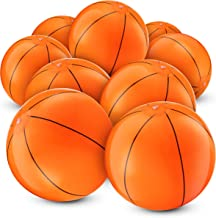 Bedwina Inflatable Basketballs (Pack of 12) 16 inch, Beach Balls for Sports Themed Birthday Parties, Beach Pool Party, Gam...