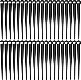Akamino 100 Pieces Irrigation Drip Support Stakes - 1/4-Inch Universal Drip Tubing Hold Stake Plastic Drip Hose Stakes Too...