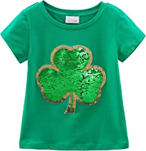 Sponsored Ad - HH Family St. Patrick's Day Shirt for Kids Flip Sequin Girls and Boys Green T-Shirt Clothing 4-12 Years