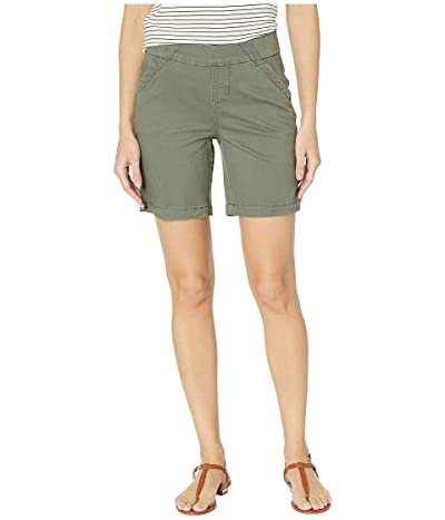 Jag Jeans 8 Gracie Pull-On Shorts in Twill (Jungle Palm) Women