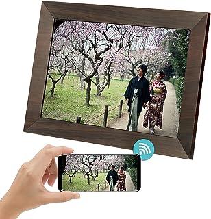 MARVUE wifi デジタルフォトフレーム, 自動再生, C10W 10.1インチ 1280*800 IPS広角視野 16GB内蔵メモリ/32大容量SDカード対応/自動回転 動画/写真/スライドショー機能日本語取扱説明書