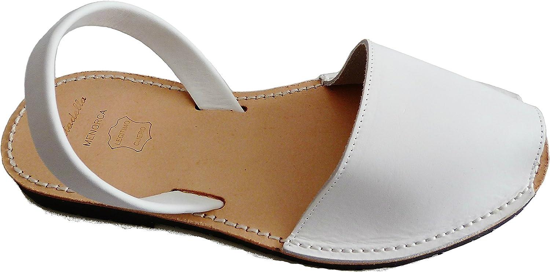 Authentic Menorcan Sandals, color whiteo Box, Avarcas Menorquínas Abarcas, Albarcas. White