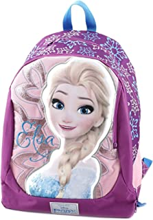 Mochila infantil Frozen Superstar con gráficos personalizados e impresiones, poliéster, rosa, 46 cm